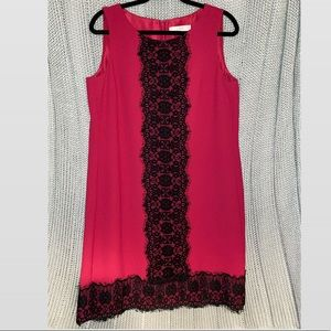 NWT Women's Loft Dress Dark Pink 10T